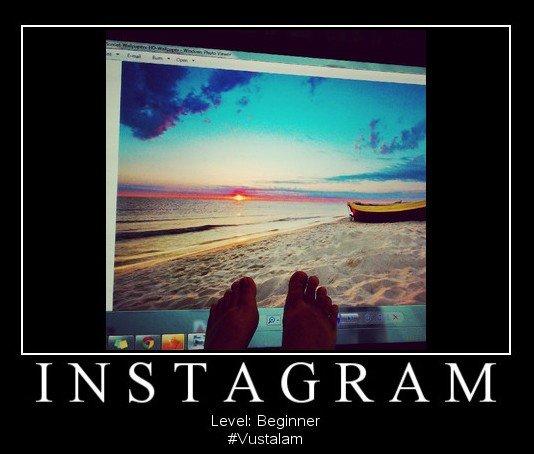 Instagram fail. . Level: Beginner instagram fail failed level beginner Poster win lose funny picture Beach feet