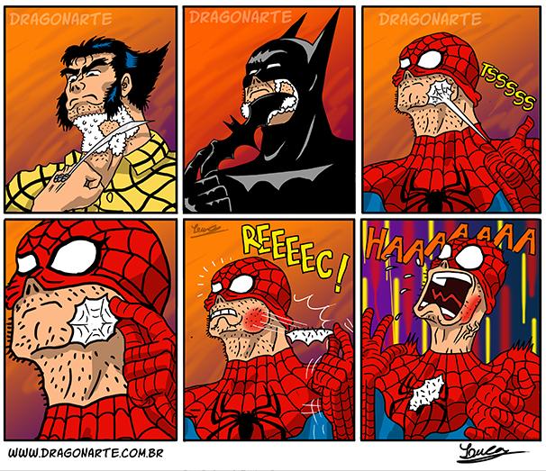 Is shaved super heroes. Is shaved super heroes. Spiderman Wolverine batman shaved