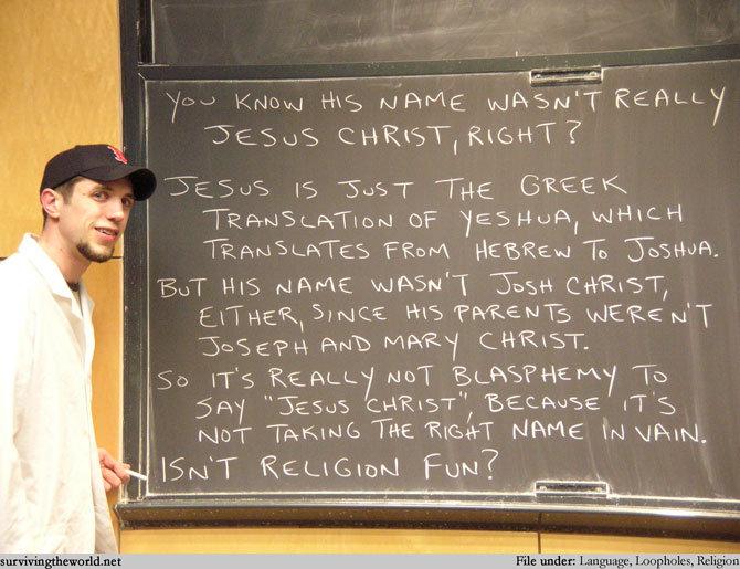 """Isn't religion fun?. Breaking the laws of religion. mousta"""" , Fettel TI ,. Lesson Religion fun Jesus Christ Porn tits Boobs nsfw"""