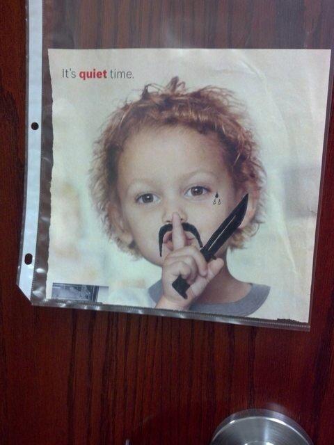 It's quiet time. . Mill quiet Em IL'. It's quiet time Mill Em IL'