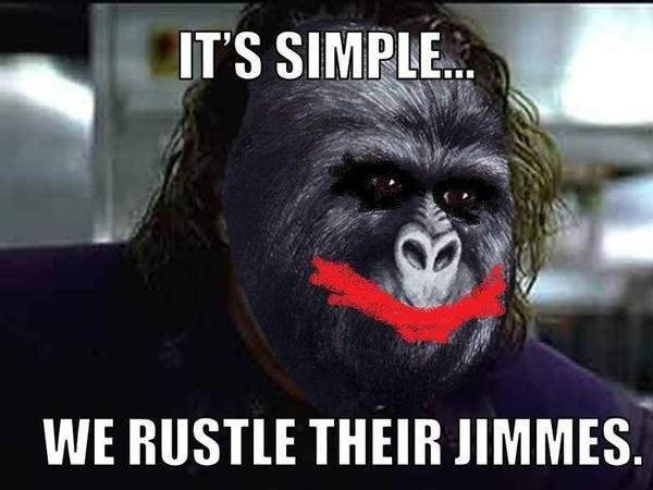 It's simple.... heh. jimmy rustling The Joker