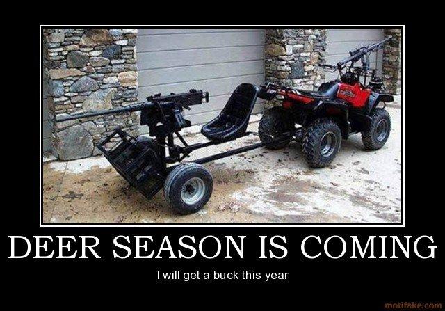 its hunting season. . hunting overkill