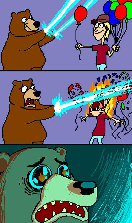 Laser Bear :3. .. Since when does Pedobear have lazers?... Laser Bear :3 Since when does Pedobear have lazers?
