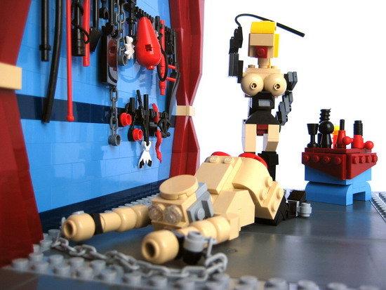 Lego Sex. .. red buttcheeks? lol?