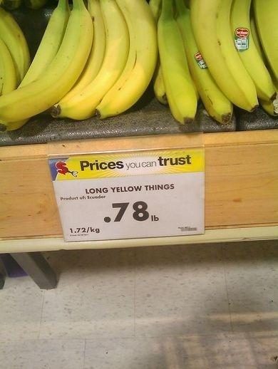 Long things. grocery people.... LONG THINGEH ... definitely not Asian Banana