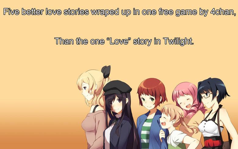 Love Stories. .. Don't you mean SIX love stories? Katawa Shoujo Love stories twilight