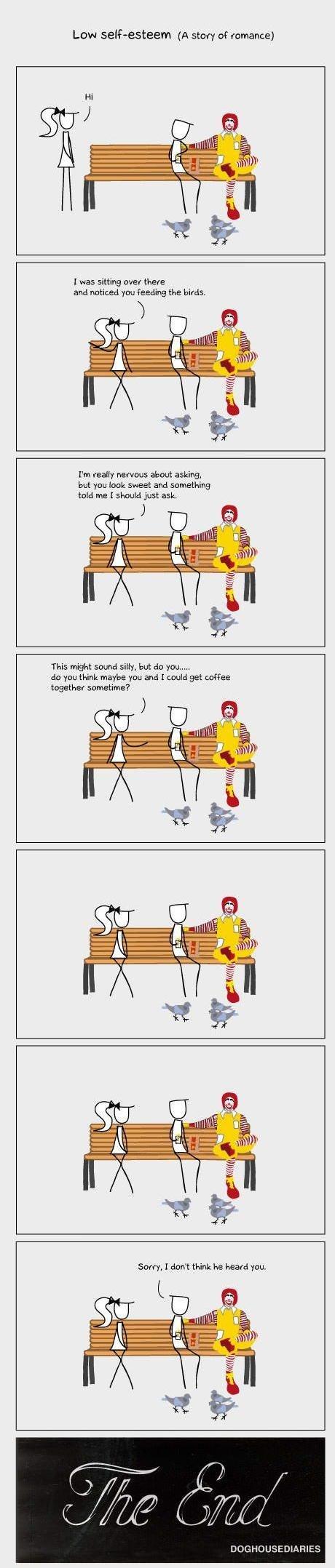 low self esteem. obsessed with April Gutierrez: www(dot)theleek(dot)com/2013/04/marry-me-april-gutierrez-14-hot-pics/. Low (A story romance] I was oi . ova were funny comics self esteem humor McDonalds comedy
