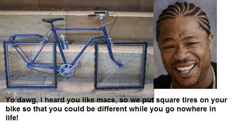 Mac vs PC 2.. macs no diffrence bike will still get stolen mac pc apple vs