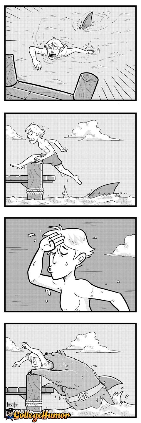 made me lol. . Infill!!! Bear Shark attack
