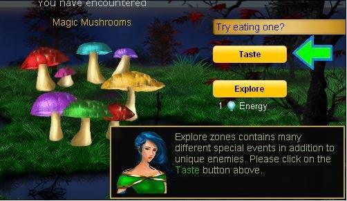 Magic Shrooms. fb app: dream world<br /> where its ok to taste the magic mushrooms. YOU Clipid/ e () Magic Mushrooms E: -were 1 Q Energy Explore zones con magic Mushrooms FB dream world