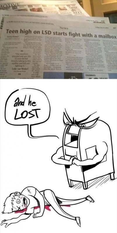 Mailbox. .. Talk Get hit funny mailbox Drawing newspaper