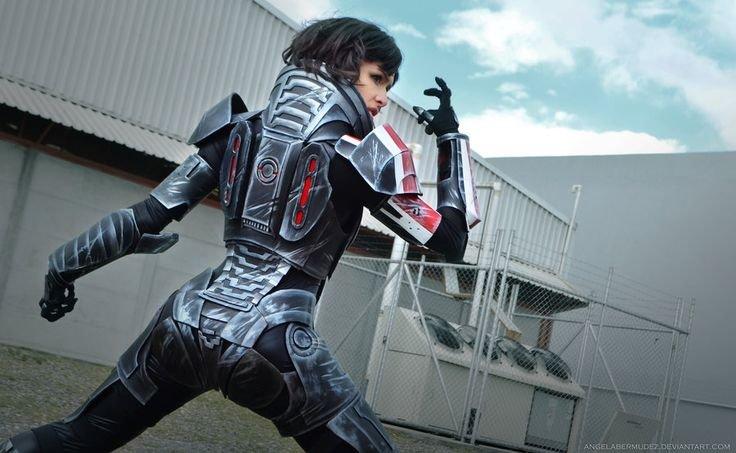 Mass Effect. Female Shepard Source: Artists: Cosplayer - Angela Bermudez Photographer - Andres H.. Mass Effect Female Shepard Source: Artists: Cosplayer - Angela Bermudez Photographer Andres H