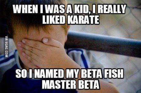 Master Beta... . WHEN I WASHA KID. I EAI KARATE 80 I HAM!!! MY BETA FISH MASTER BETA I. and you went on to inherit his name Master Beta WHEN I WASHA KID EAI KARATE 80 HAM!!! MY BETA FISH MASTER and you went on to inherit his name