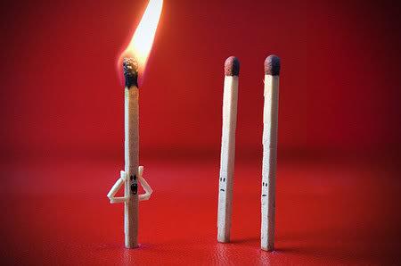 matchsticks. .. QUICK BLOW ME matchsticks