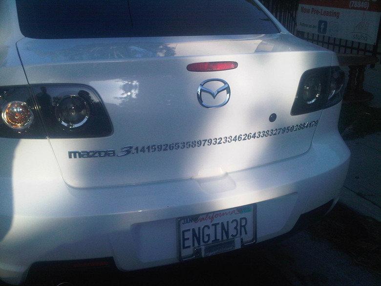 Mazda Pi. .. MFW His licence plate Mazda Pi MFW His licence plate