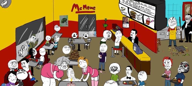 """McMeme. Enjoy . mum THE YHE. HUI"""" Elk Dun. where is dickbutt ffs? McDonalds"""