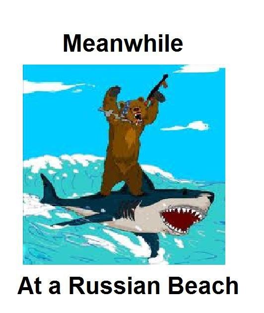 Meanwhile 3. . Meanwhile At a Russian Beach. meanwhile in soviet russia meanwhile russia Bear Shark