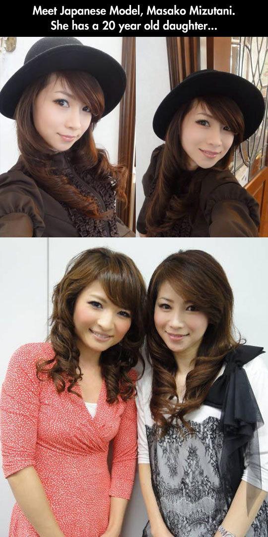 Meet Masako Mizutani. Meet Masako Mizutani . Meet Japanese Model, Masako . She has CI 20 year old daughter... I ciivil' l pipiru. ...she looks better than her daughter funny