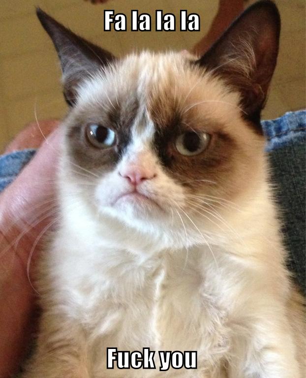 Merry Christmas!. . Grumpy cat Christmas carols