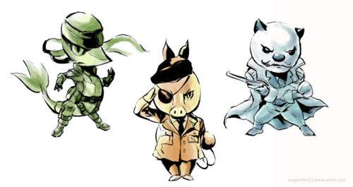 Metal Pokemon Solid. Crossovers are awesome.. Solid Snivy, TeBig Boss, Revolver Oshawott Metal Pokemon Solid Crossovers are awesome Snivy TeBig Boss Revolver Oshawott