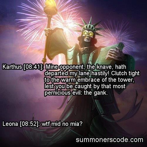 MIA Like a Sir. . tta;_ ; embrace of the tower, Leona [08: : wtf minho mia? summonerscode. com. MIA tier race ss master race reporting in Karthus mid lane laning Mia WTF like a sir sir