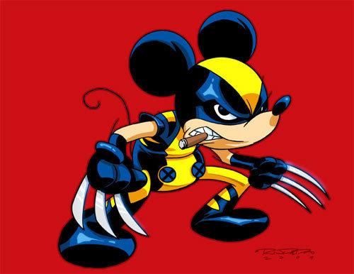 mickerine ?. . Disney mickey mouse Wolverine mash up