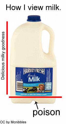 Milk.. First post. 100% troofax.. How I view milk. Delicious goodness poison cc by Milk poison Paula Abdhul Tha also milk