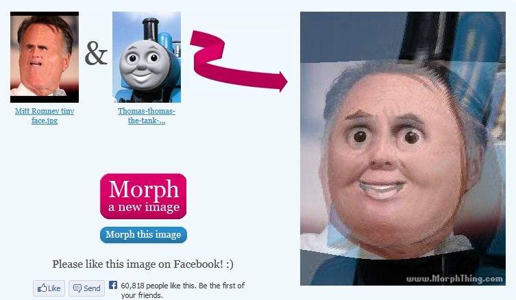 Mitt Romney Thomas the Tank Engine morph. . mitt romney thomas the tank  morph