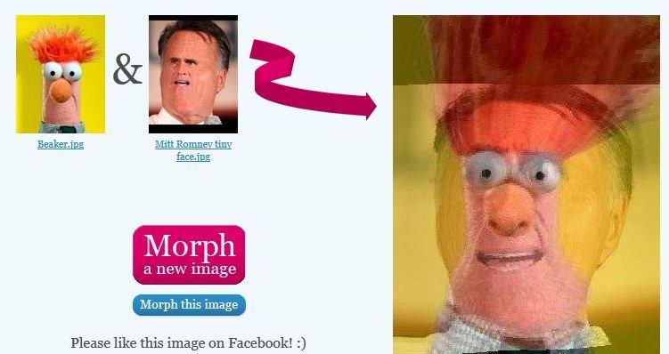 Mitt Romney tiny face Beaker morph. . Merph this image Please like this image en 3 mitt romney tiny face beaker