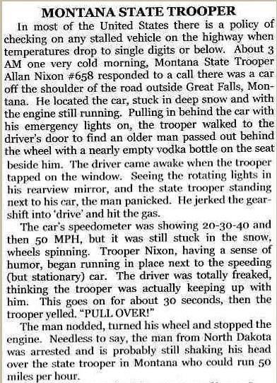 montana state trooper. .. I lol'd montana state trooper I lol'd