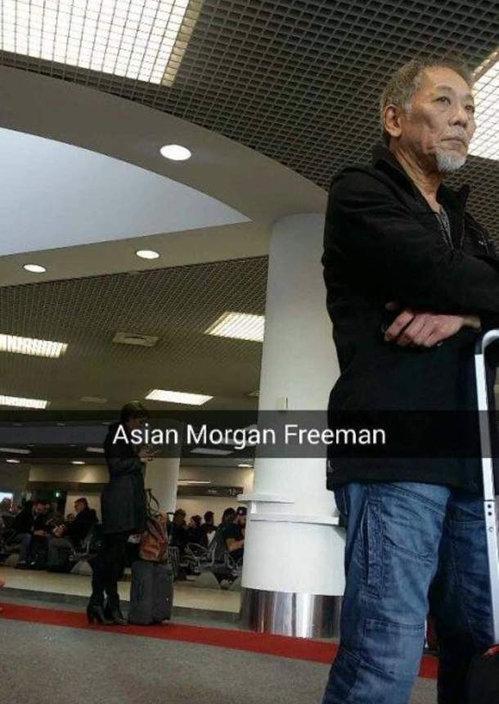 Morgan Freeman. . Asian Morgan Freeman. God exists in many forms Morgan Freeman Asian God exists in many forms