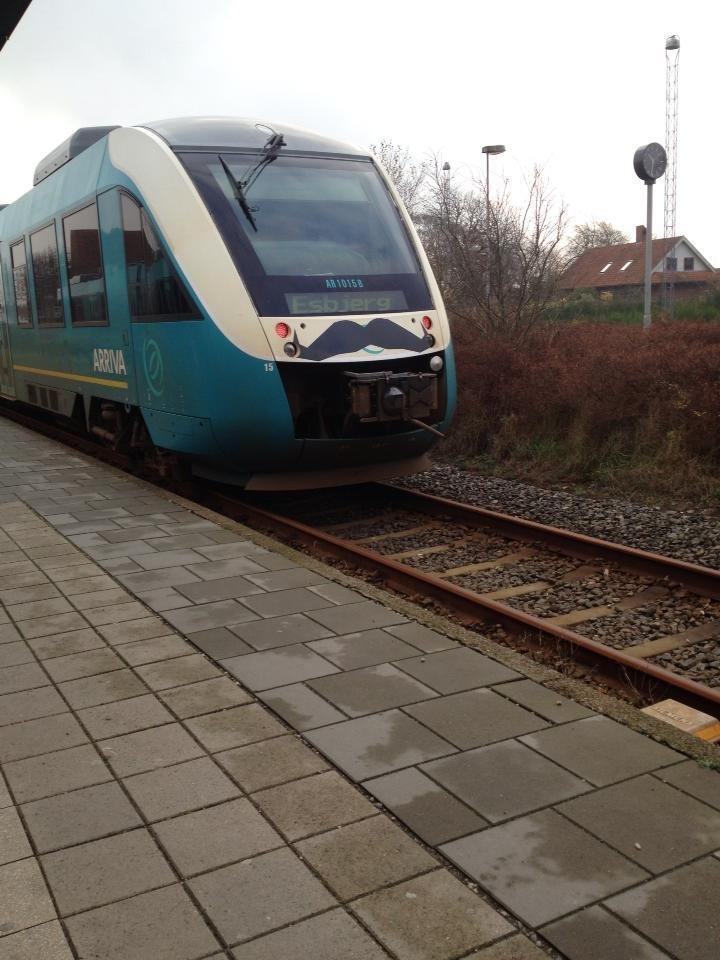 Movember train. Danish train company supporting Movember.. Hi. Movember train Danish company supporting Hi