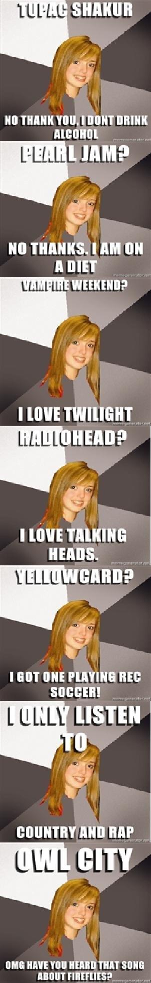 "Musically Oblivious 8th Grader 2. I take no credit.. M ' HIHIHI Illicit,,), Enma- wanna? lls' |' Eli MII link . HAIR hatt TE!"" TEN MM. i LOVE yellowcard! and i love these, keep it up. musically oblivious eighth grader twilight vampier owl City fireflies radiohead Head"