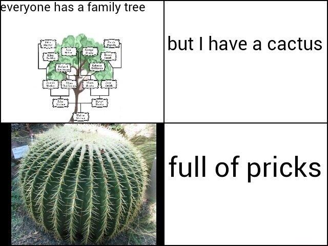 My Family. . veryone has a family tree but I have a cactus. Dans leur cactus, il y a des cactus. My Family veryone has a family tree but I have cactus Dans leur il y des