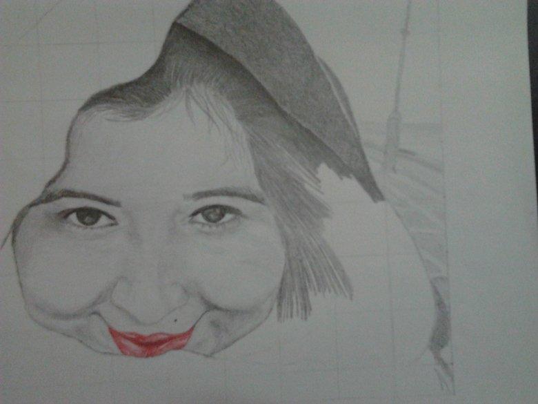 my friend's portre. i forgot to finish it. Drawings portre half portre