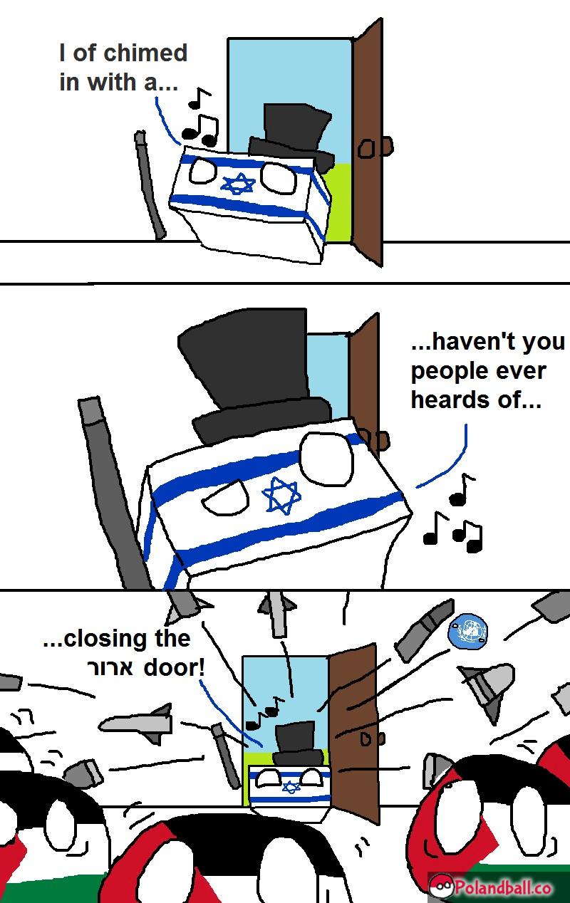 Panic at the Gaza. Source:www(dot)polandball(dot)co. I of chimed haven' t you people ever. o wat r u duin . Polandball funny