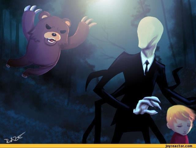 Pedobear vs Slenderman!. Pedobear vs Slenderman!. pedo vs slendy