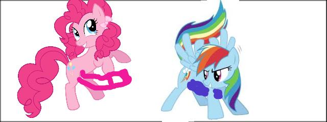 Pinkie Pie X Rainbow Dash. Made some clop material.. clop