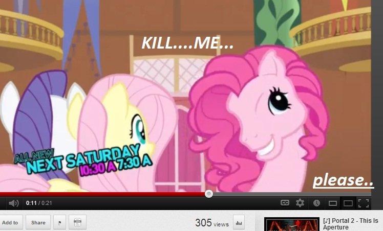 Pinkie...WHY.... Tags are liars. tit Portal 2 -This 15 Aperture. MMhmm Luna sucks