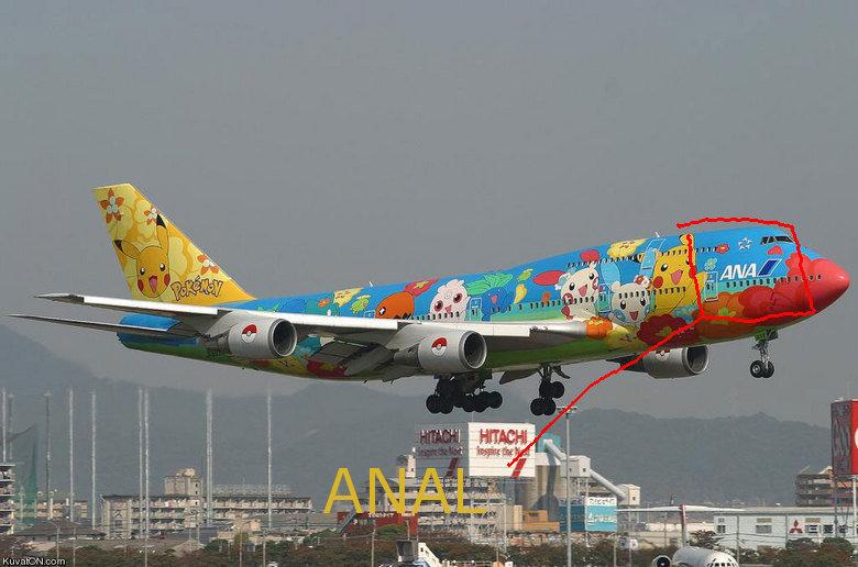 pokemon plane. .. All Nippon Airways. Not anal. funny hilarious Pokemon fail name picture