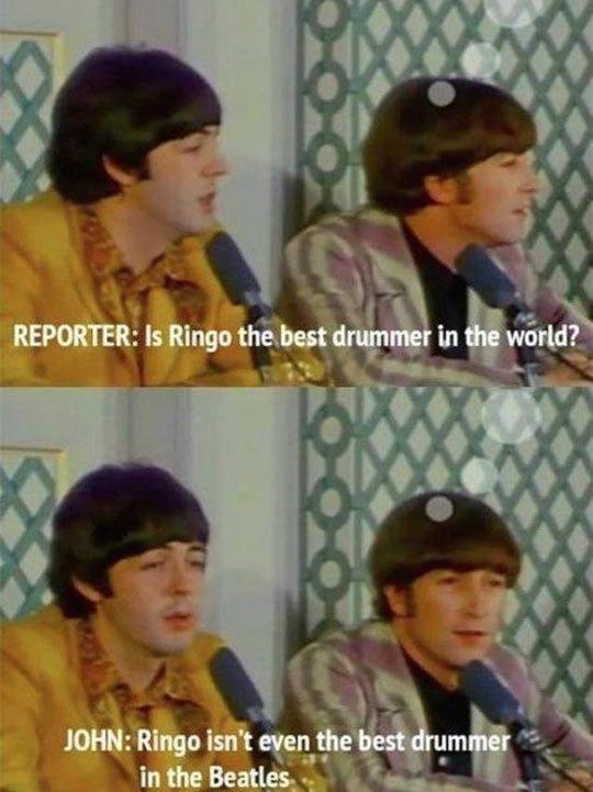 Poor Ringo Star. Poor Ringo Star via geniusquotes.net.