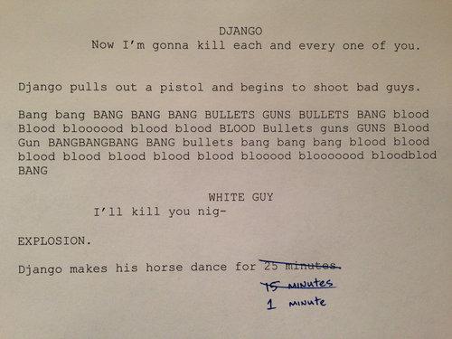 """Quentin Tarantino, everyone. . DJANGO Haw I' m gonna kill each and every one """" you. Django pulls out a pistal and begins to shoot bad guys. Bang hang BANG BANG  Quentin Tarantino everyone DJANGO Haw I' m gonna kill each and every one """" you Django pulls out a pistal begins to shoot bad guys Bang hang BANG"""