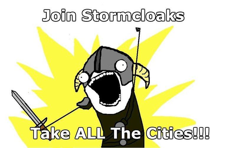 Take ALL The Cities!. . taj( iii) Iii] iii skyrim take all the Cities stormcloak stormcloaks