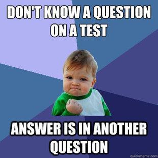 Test. Fecal matter.. ANSWER IS iii QUESTION lolololololololo
