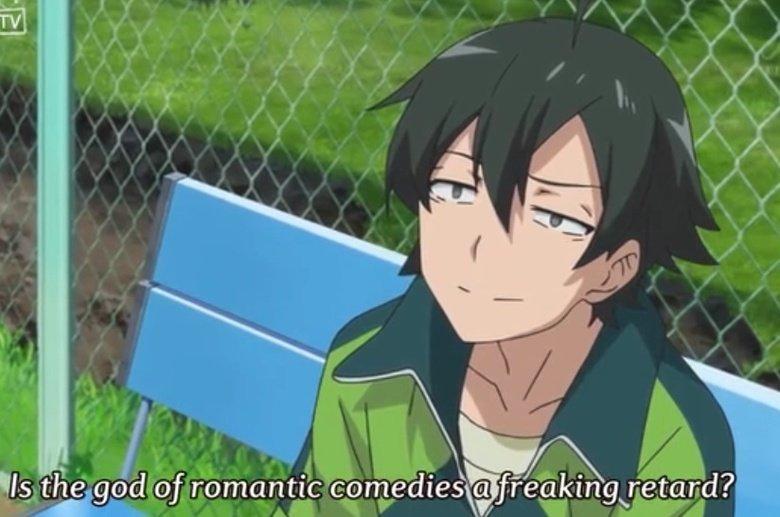 The beautiful face of Hikigaya. is it me or does hikigaya from oregairu pull some faces in oregairu. oregairu Male weird Anime