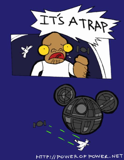 The Empire's New Weapon. via powerofpower.net. NET star wars Disney Trap