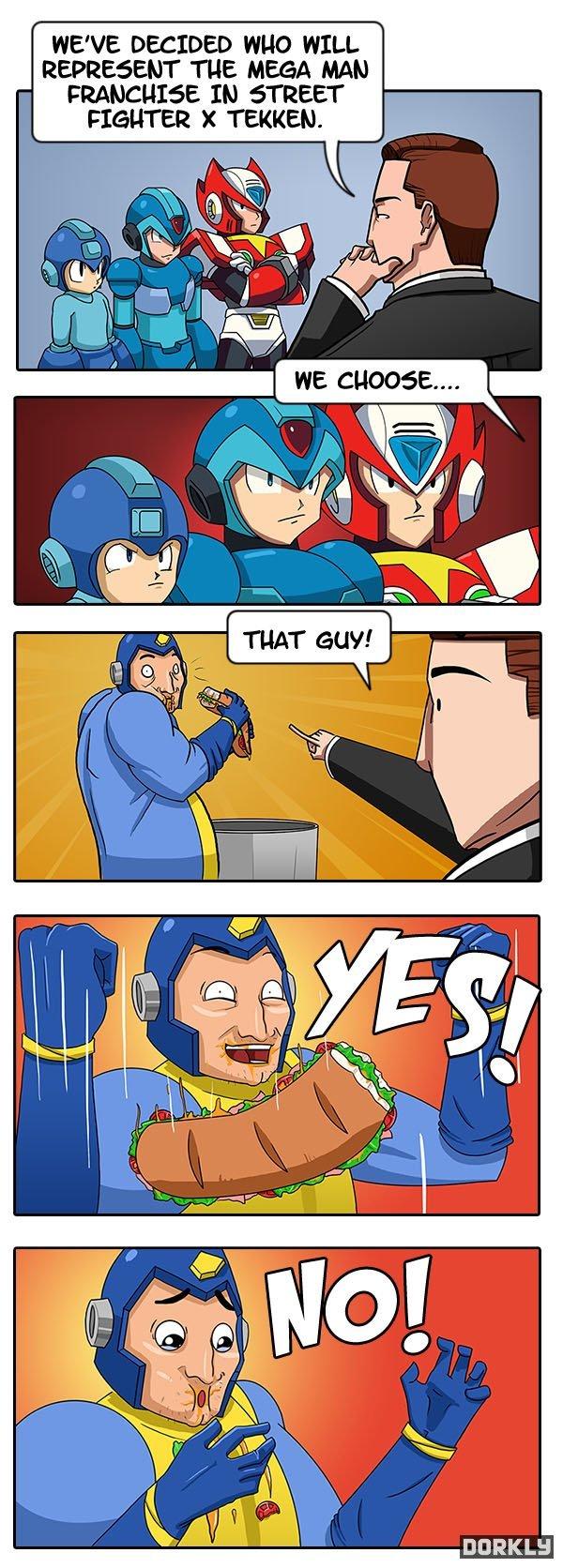 The Right Mega Man. He's so old creds to Dorkly.com.. I want megaman legends 3, horse cunts capcom is. Megaman street fighter X fatass
