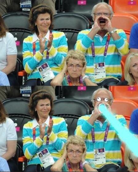 The Swedish king at the Olympics. . Olympics