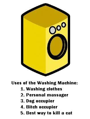 "The Washing Machine. Standard washing machine uses. Enjoy.. Uses "" the Washing Machine: Washing memes Personal manager Deg Elites Best way tn kill a mat. Anyone got that .gif where someone throws a brick in a washing machine a full speed? washing machine"