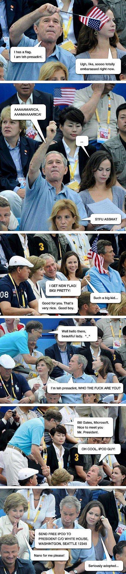 The Bush Family. Hopefully not re-toast <br /> Credit to lolrandom.com. I has a mag. am ten ' Ugh, like, sauna , GET NEW FLAGG far you. That' s wear nice. bush funny dumb